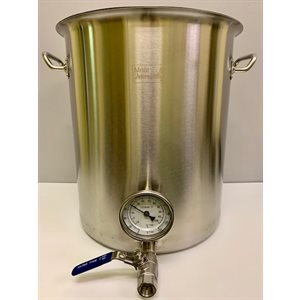 40 QT / 10 G / 38 L Stainless Steel Kettle with Valve & Thermometer