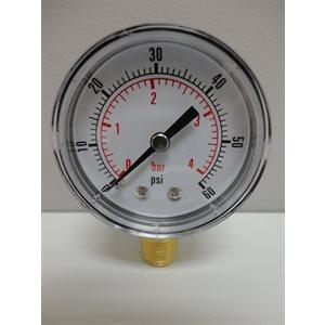 Cadran / manomètre 60 PSI (1 / 4 MPT)